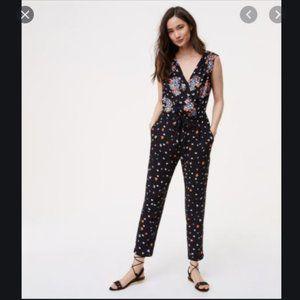 Ann Taylor Loft Floral Jumpsuit - Petite XXSP